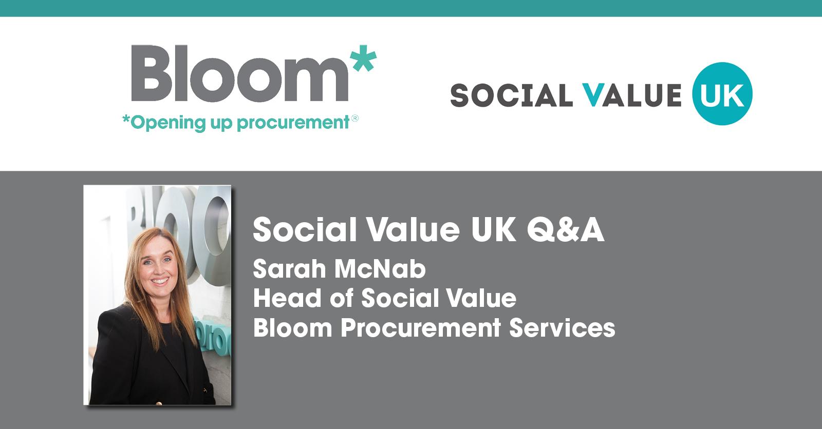 Bloom sponsor Social Value UK Member's Exchange
