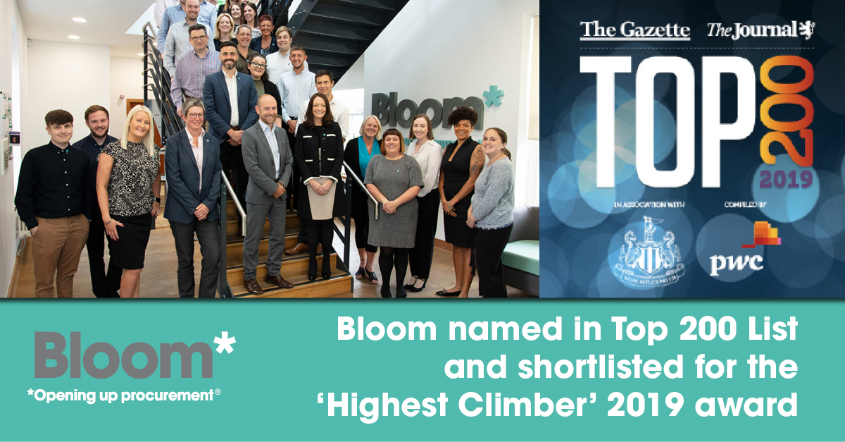 Bloom announced as one of the North East's largest companies