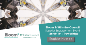 Wiltshire Council and Bloom Supplier Engagement Event