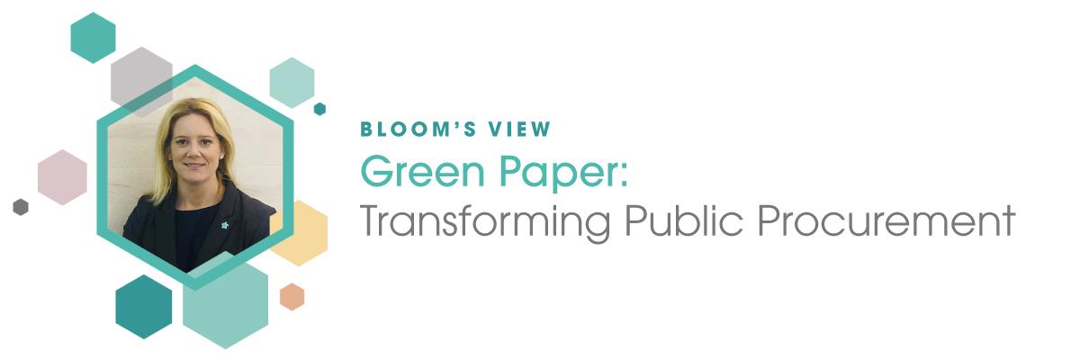 Bloom's View: 'Transforming public procurement'